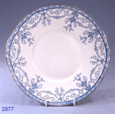vintage china antique victorian blue and white vintage bone china cake