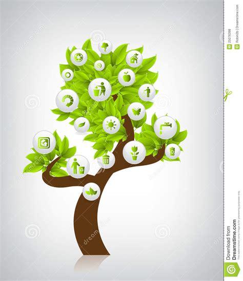 Eco Tree Vector Illustration Royalty Free Stock Photos Image 25076398 Green Eco Tree Vector Free