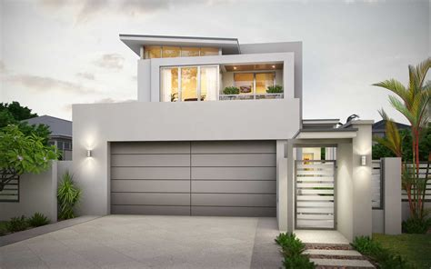 modern garage design narrow block house plans wa arts small 2 story lot home