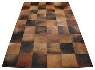 cowhide rug los angeles cuadrado 8 quot squares cowhide patchwork rug modern rugs los angeles by viesso