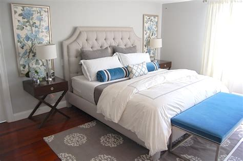 Blue And Gray Bedrooms by Gray And Blue Bedroom Transitional Bedroom Erin