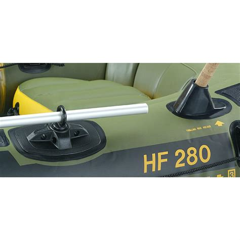 fishing boat and motor packages sevylor 174 fishing hunting inflatable boat package with