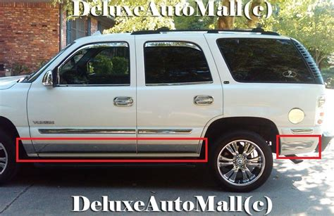 00 2001 2002 2003 2004 Chevy Tahoe Chrome Rocker Panels for sale