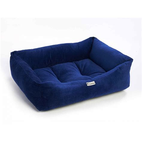 blue corduroy couch warm corduroy padded dog bed waterproof washable pet house