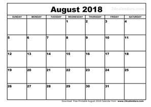 Calendar Thru 2018 August 2018 Calendar Printable 2017 Calendars