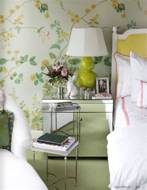 yellow wallpaper bedroom a curated look houston home simplified bee