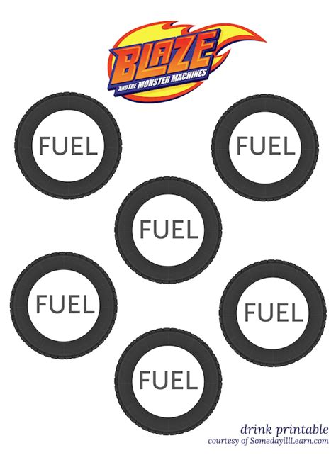 free printable monster targets a monster truck party with blaze someday i ll learn
