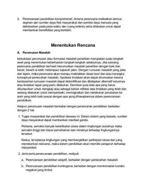 membuat sebuah resume resume proses perencanaan pendidikan