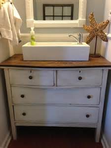 ikea pedestal sink replaced pedestal sink with refurbished dresser and a vessel sink faucet from ikea