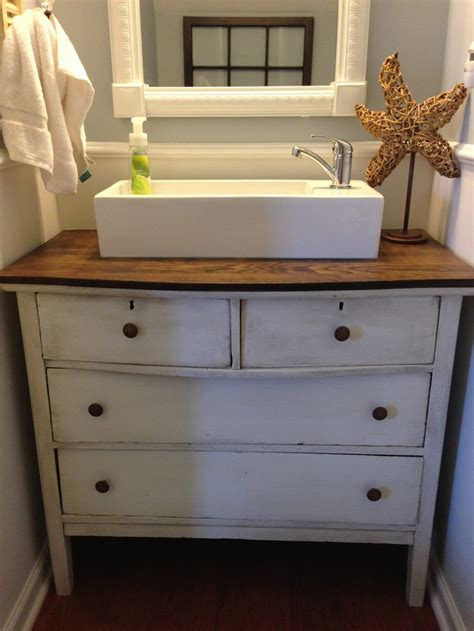 Replacement Dresser by Replaced Pedestal Sink With Refurbished Dresser And A