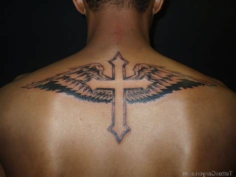 cross tattoos for men on back the gallery for gt back cross tattoos