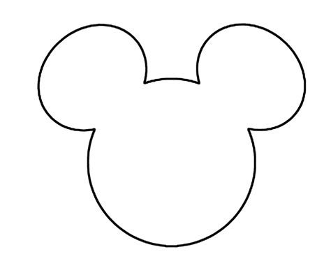 minnie mouse template mouse outline cake ideas and designs