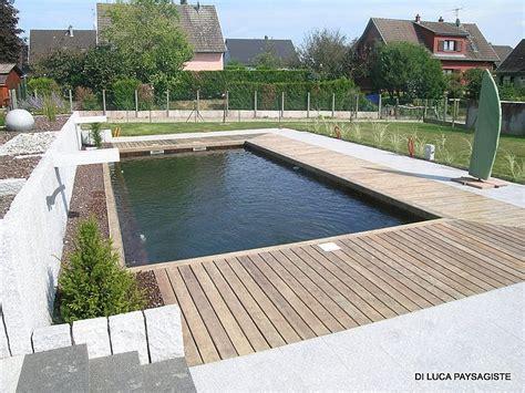 plancher bois di luca paysagiste belfort am 233 nagement ext 233 rieur piscine naturelle bassin