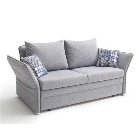 schlafsofa ausziehbar schlafsofa als 2 sitzer in grau mit abklappbaren armlehnen