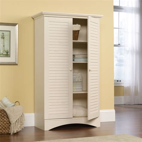 bathroom storage furniture white harbor view storage cabinet 400742 sauder