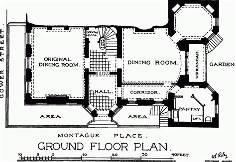 ground and first floor plans plate 75 no 11 bedford square ground and first floor