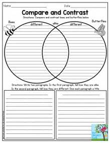compare and contrast reading worksheets 5th grade compare and contrast bees and butterflies such a activity for third grade the no prep