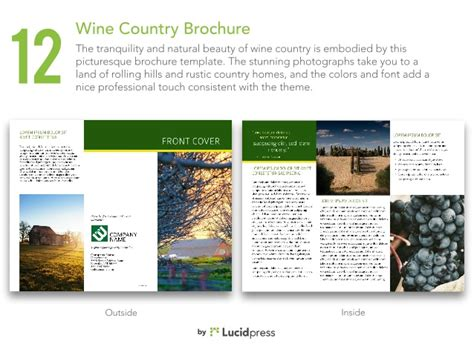 country brochure template gallery templates design ideas