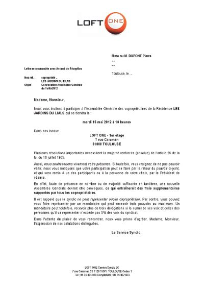 lettre type convocation notaire
