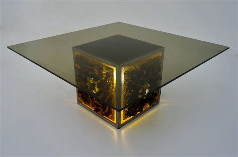 1970 s illuminated coffee table side table by raak
