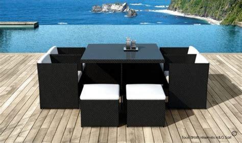 table de jardin resine tressee 8 places salon de jardin 8 places encastrables en resine tress 233 e