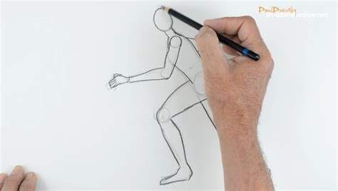how to section a person draw people part 2 running figure youtube