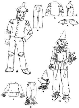 design pattern summary simplicity 7820 scarecrow costume