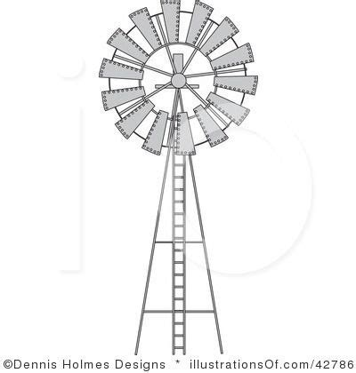 black and white barn windmill clipart 42786 by