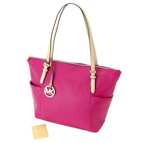 Tote Pink auth michael kors tote shoulder bag leather pink purse