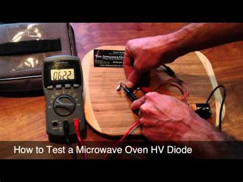 how to test power diode how to test microwave oven magnetron power how to save money and do it yourself
