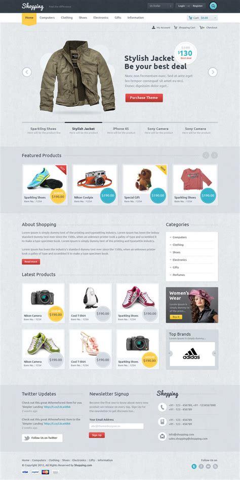 layout web shop shopping ecommerce theme by sunilbjoshi on deviantart