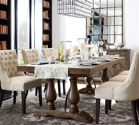 casual dining room ideas pottery barn vacation home lorraine extending dining table hewn oak pottery barn