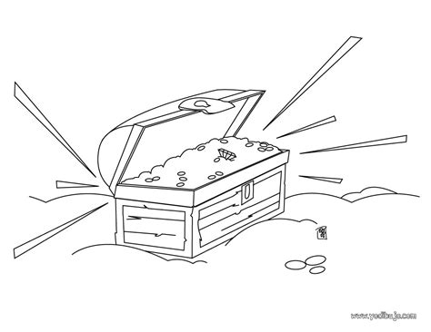dibujo de un tesoro dibujos para colorear caj 243 n del tesoro es hellokids com