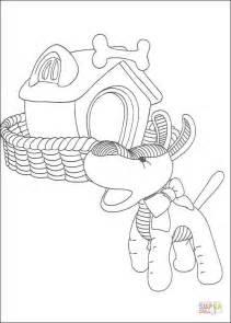 Disegno di Il cane e la sua cuccia da colorare | Disegni
