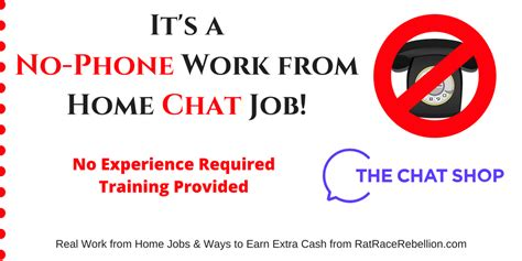 work from home chat no phone work from home chat real work from home