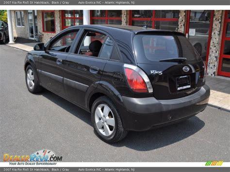 2007 Kia Rio5 2007 Kia Rio5 Sx Hatchback Black Gray Photo 2
