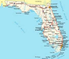 map of florida atlantic coast florida state usa