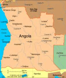 africa map angola atlas angola
