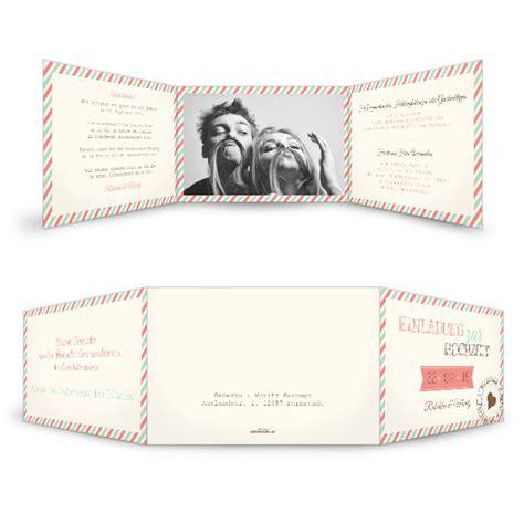 Hochzeitseinladung Pastell by Retro Hochzeitseinladung In Pastell T 246 Nen Carinokarten De