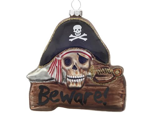 beware pirate personalized ornament