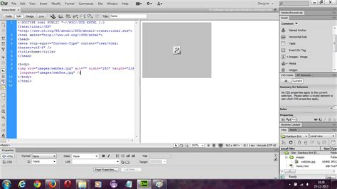 not showing html images not showing up in dreamweaver design but