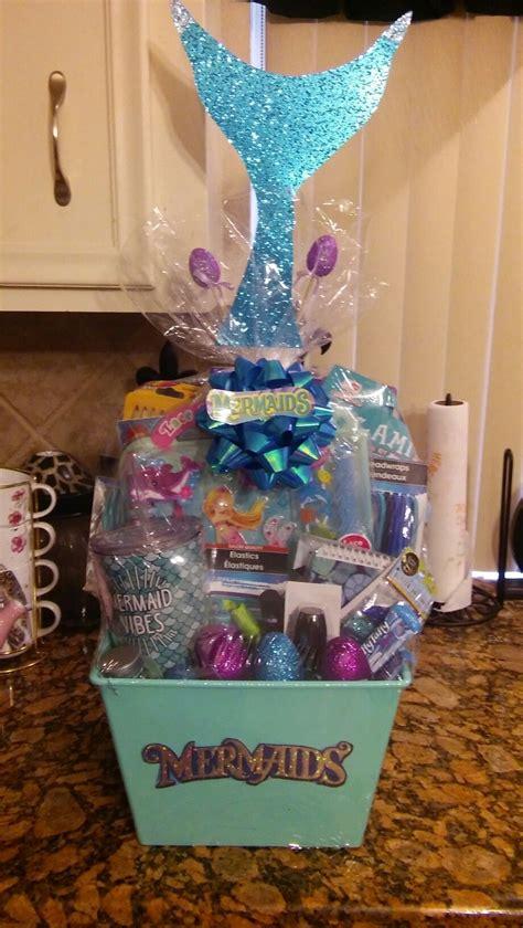 birthday themed raffle basket mermaid easter basket gift baskets pinterest easter