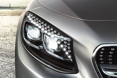mercedes headlights at 2015 mercedes s class coupe flaunts swarovski