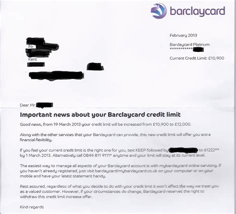 Credit Increase Letter Thrifty Mummyhen The Journey To A Debt Free