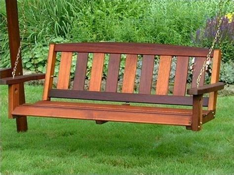 wood bench swing pdf diy hanging swing bench plans download handmade