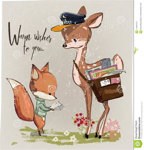 fawn cartoons illustrations vector stock images  pictures