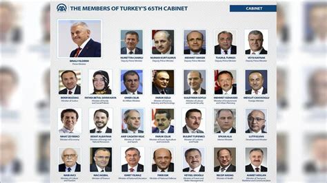 cabinet members turkey brief profiles of cabinet members