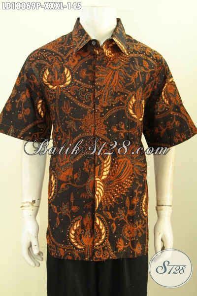 desain baju batik kekinian batik hem solo halus seragam kerja pria gemuk sekali