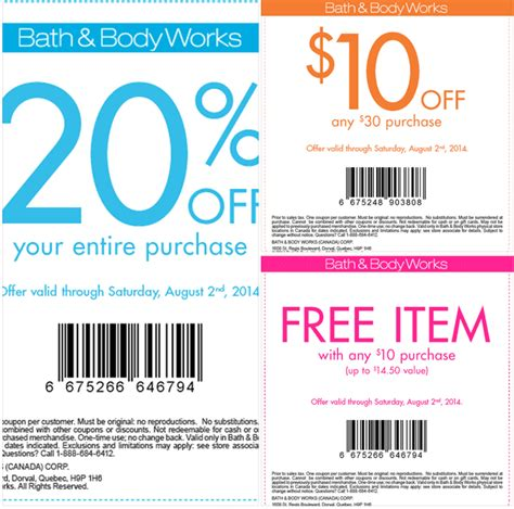 bed bath and body works coupon bath body works canada canadian freebies coupons deals