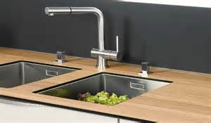 lovely Plan De Travail Cuisine Avec Evier Integre #1: 2-4_evier-installe-sous-plan.jpg